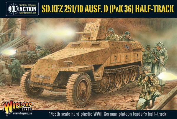 Bolt Action: Sd Kfz 251/10 ausf D (3 7mm Pak) Half-Track