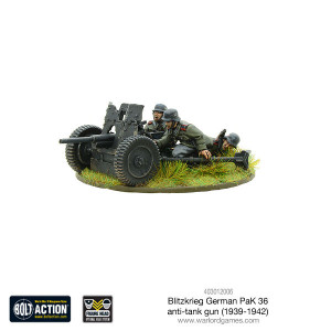 Bolt Action: Blitzkrieg German Pak 36 anti-tank gun