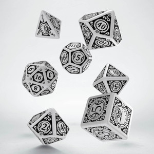 Steampunk Clockwork Dice Set White/Black (7)
