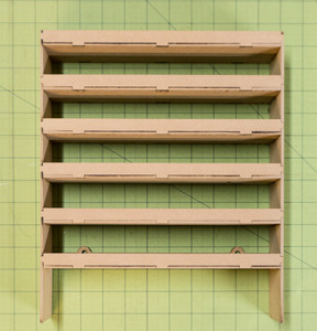 "Hanging Shelf Unit (10"" Wide - 6 Shelves)"