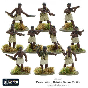 Bolt Action: Papuan Infantry Battalion Section