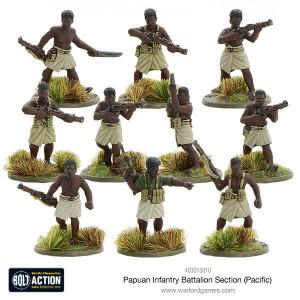 Bolt Action: Papuan Infantry Battalion Section
