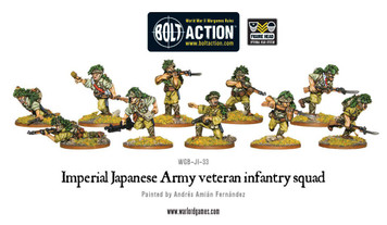 Bolt Action: Imperial Japanese Army Veteran Infantry Squad