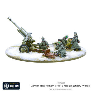 Bolt Action: German Heer 10.5cm leFH 18 medium artillery (Winter)