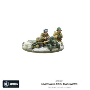 Bolt Action: Soviet Maxim MMG team (Winter)