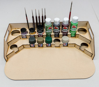 Painting Station - 36mm for Polly Scale, 10ml Tamiya and similar bottles