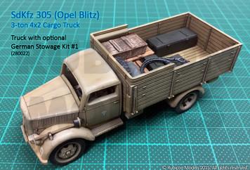 SdKfz 305 3-ton 4x2 Cargo Truck (1:56th scale / 28mm)