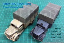 SdKfz 305 3-ton 4x2 Cargo Truck 1:56th scale // 28mm
