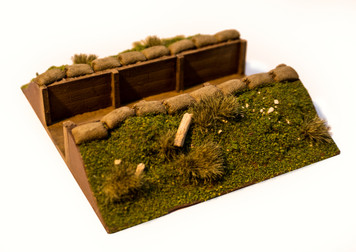 "4"" Straight Trench Section (28mm Scale)"
