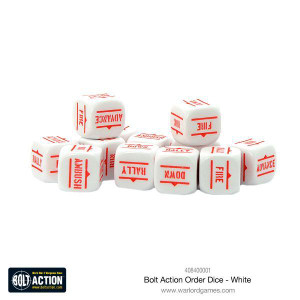 Bolt Action: Orders Dice Packs - White