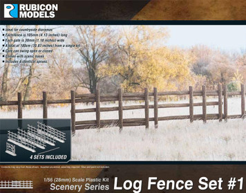 Log Fence Set #1