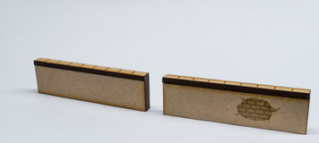"28mm Scale Two Wall Sections - 3"" long each - 28MMDF572"