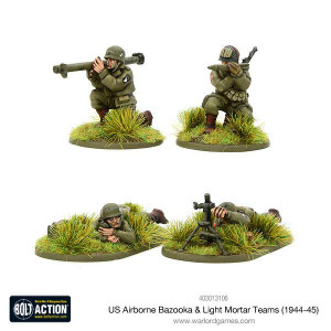 Bolt Action: US Airborne Bazooka & Light Mortar teams (1944-45)
