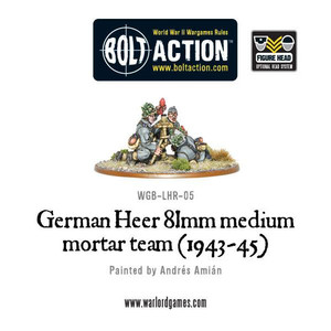 Bolt Action: German Heer 81mm medium mortar team (1943-45)