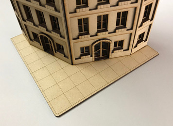 Optional Sidewalk Piece for 28mm Corner Building - 28MMDF525-1
