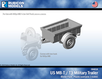 US Jeep MB-T / T3 Military Trailer