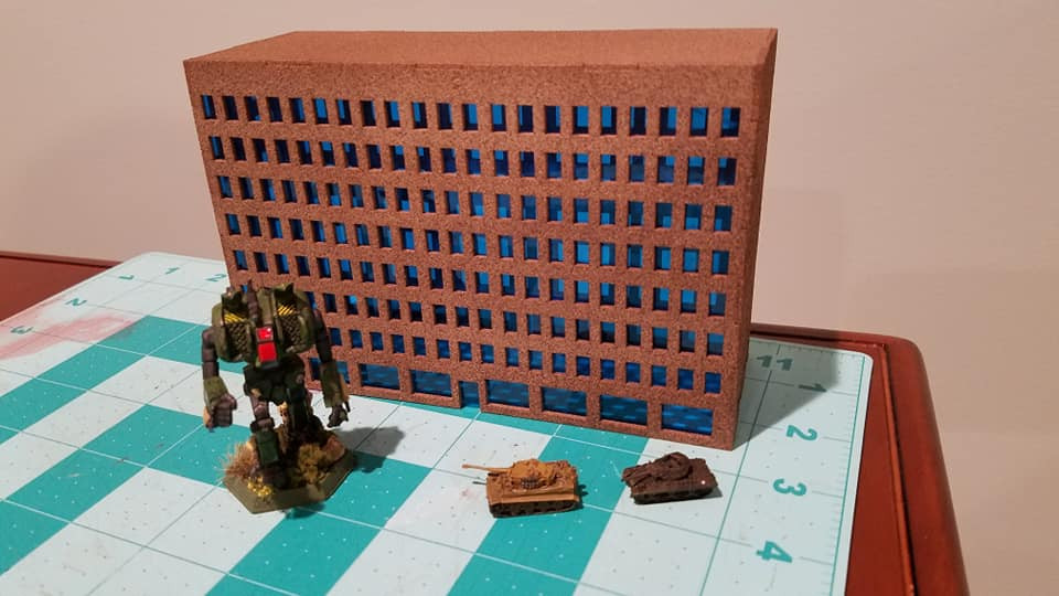 6mm Modern / Future City Building - 285CSS071