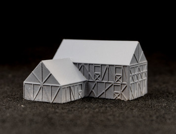 "6mm Two story ""L"" shaped country home (Resin) - 285MEV116"
