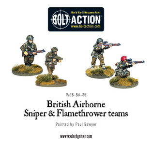 Bolt Action: British Airborne Flamethrower and sniper teams
