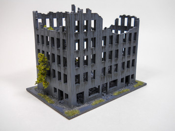 "Ruined City Building, 7"" x 3"" (MDF) - 15MMDF262-2"
