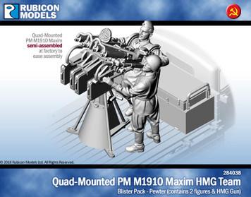 Quad-Mounted PM M1910 Maxim HMG- Pewter