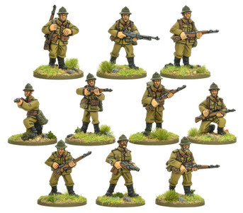 Bolt Action: Belgian Army Infantry squad
