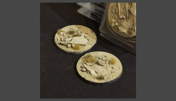 Battle Ready Bases: Arid Steppe Round 60mm (x2)