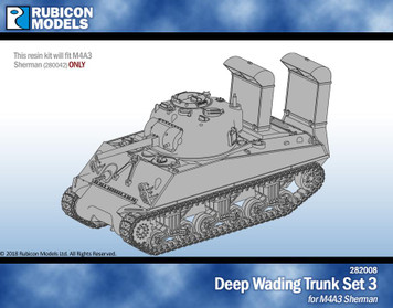 Deep Wading Trunk Set 3 - M4A3 - Resin