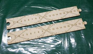Cruel Seas Ruler Set - (Durable MDF)
