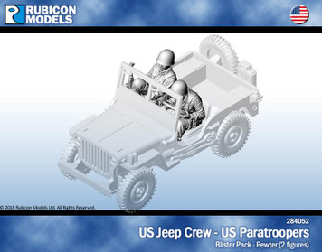 Rubicon Models US Jeep Crew, US Paratroopers