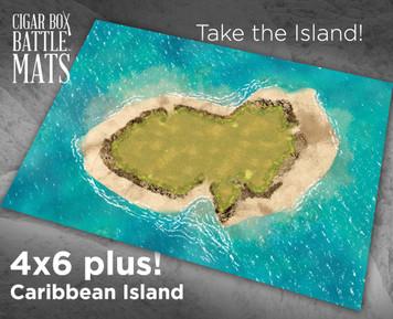Battle Mat - Caribbean Island