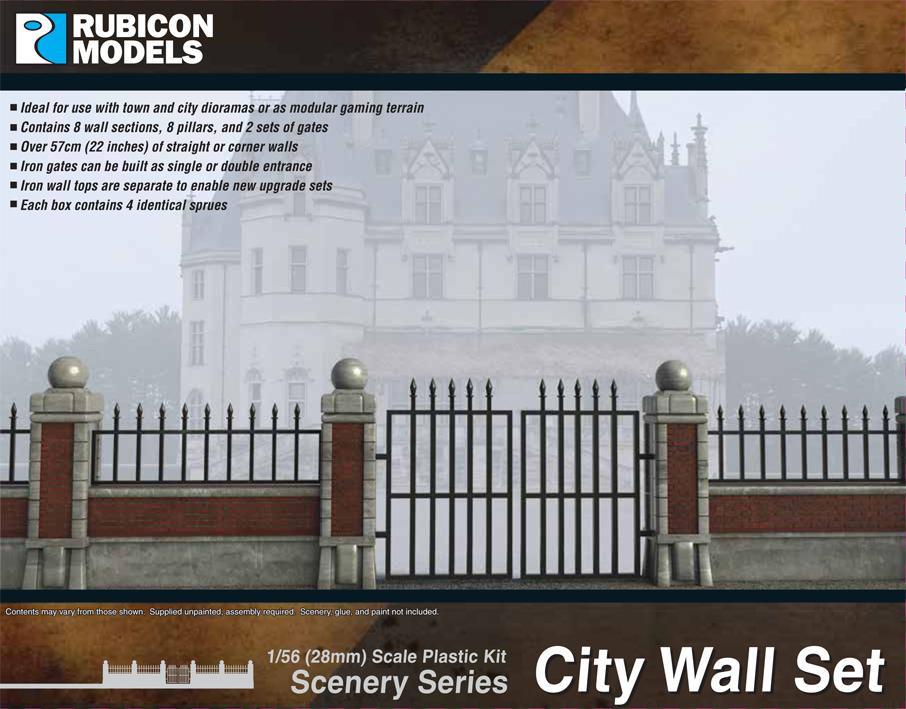 Rubicon Models City Wall Set