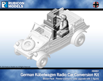 Rubicon Models Kubelwagen Radio Car Conversion with Crew- Pewter