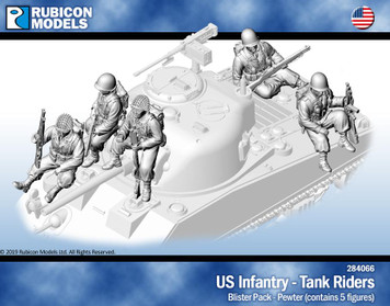 Rubicon Models US Infantry Tank Riders- Pewter