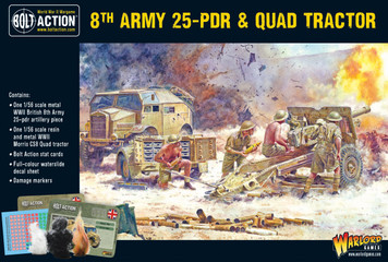 Bolt Action: 8th Army 25 Pounder Quad and Limber