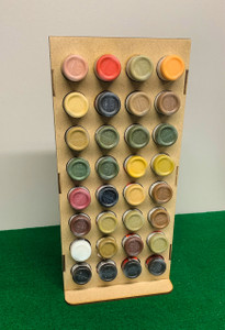 Vertical Paint Rack, Half - 26mm, For Vallejo and Army Painter Style Dropper Bottles
