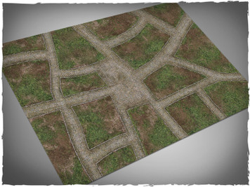 Game mat - Cobblestone Streets - Cloth, 4x6