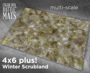 Battle Mat - Winter Scrubland