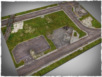 Game mat - Walking Dead Town (PVC)