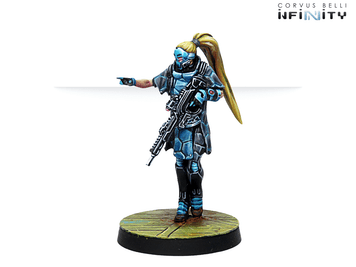 Infinity (#763) PanOceania: Zulu-Cobra, Special Recon and Intervention Team (Hacker) (1)