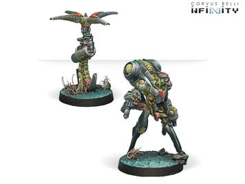 Infinity (#363) Combined Army: Ikadron Batroids & Imetron (Baggage; AI Beacon) (2)