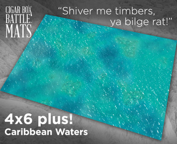 Battle Mat - Caribbean Waters
