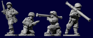 Artizan WWII 28mm: US Infantry Bazooka Team (4)