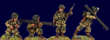 Artizan WWII 28mm: US Airborne Bazooka Team (4)