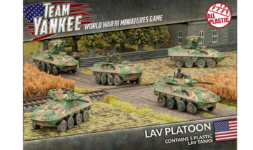 Team Yankee:  LAV-25 Vehicles w/AT and Mortar Upgrades (5 x Plastic)