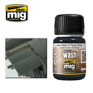 AMMO: Enamel Washes - Blue Wash for Panzer Grey (35ml)