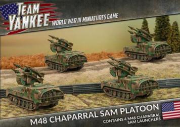 Team Yankee: M48 Chaparral SAM Platoon  (4 x Plastic)
