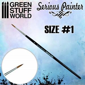 Serious Painter Kolinsky Sable Brush - Size 1