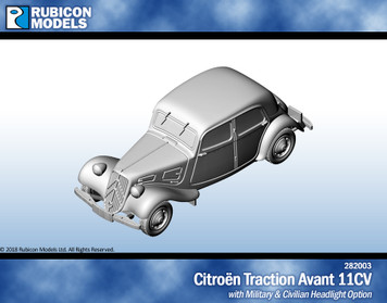 Citroen Traction Avant 11CV- Resin