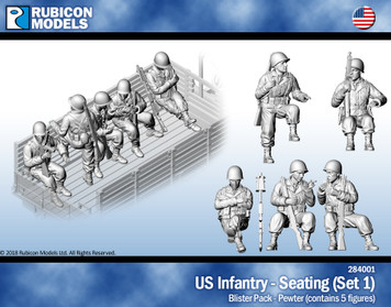 US Infantry Seated (Set 1)- Pewter